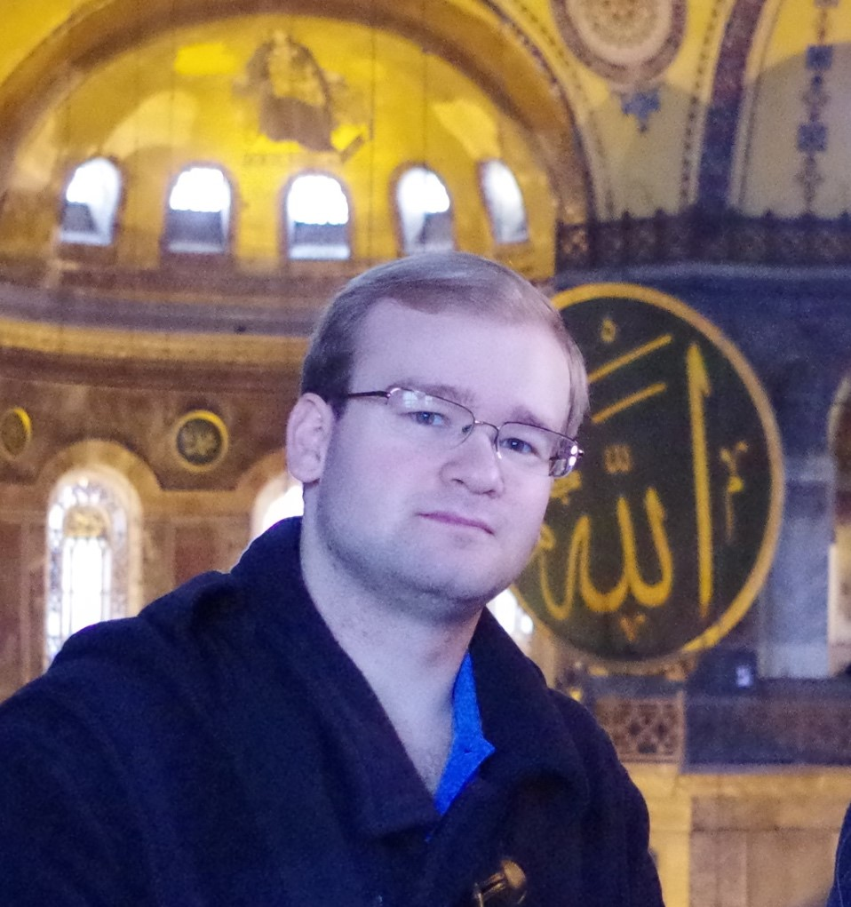 Gregoire on a recent trip to the Ayasofya in Istanbul