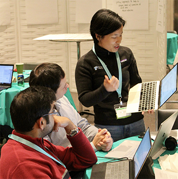 Hackathon participants from a previous year